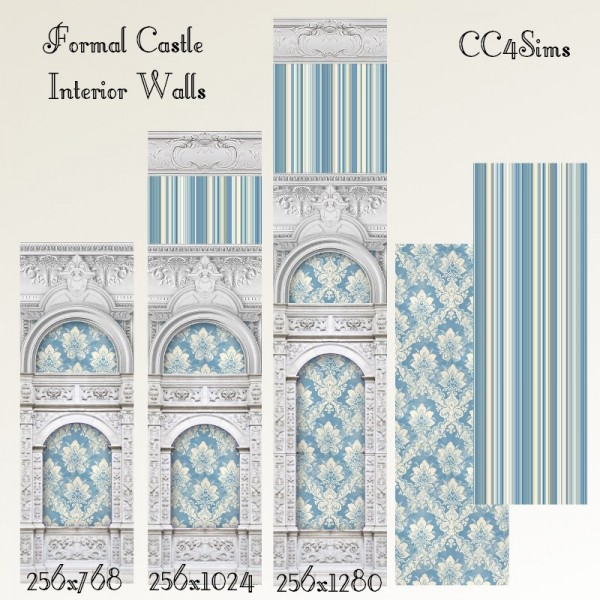 CC4Sims: Formal castle interior walls