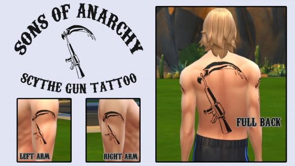 Mod The Sims: SOA Scythe Gun Tattoo for Men by ironleo78