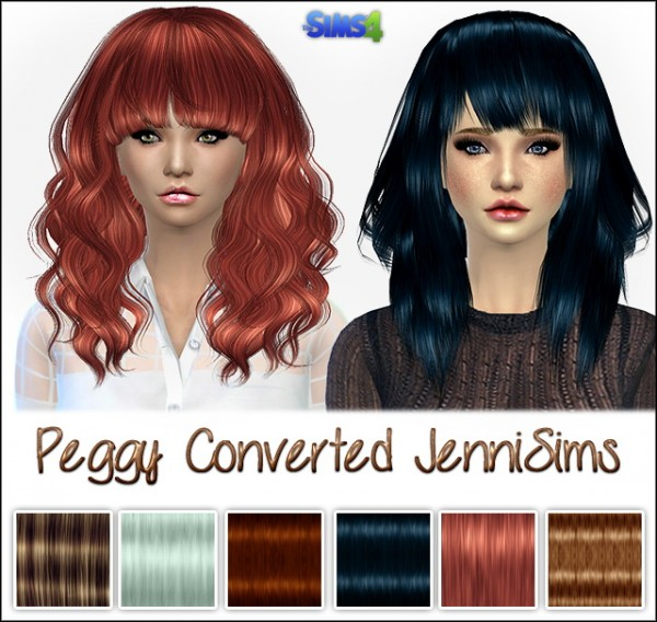 Jenni Sims: Peggy Hairs converted for the Sims 4