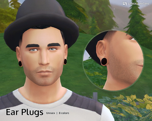 Lumia Lover Sims: Ear Plugs   Piercings