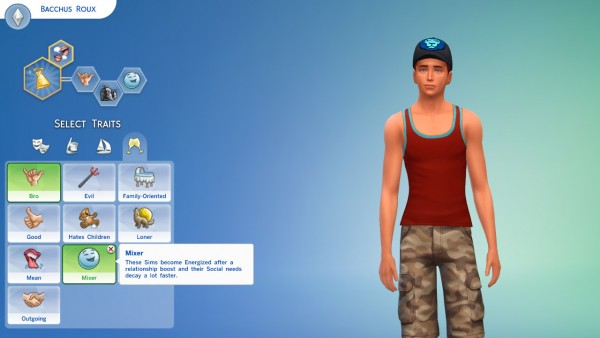 Mod The Sims: New Trait: Mixer by Zerbu