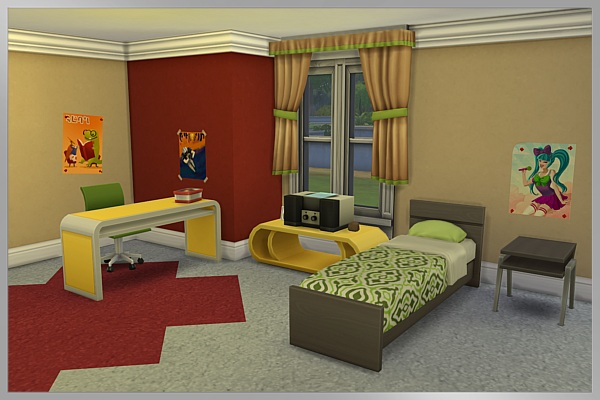Blackys Sims 4 Zoo: Teen room Olivia by Cappu