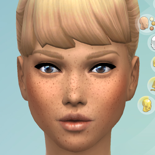 Mod The Sims: Darker Freckles by KisaFayd