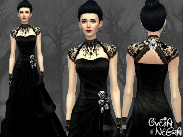 The Sims Resource: Vanessa Dress by OvejaNegra