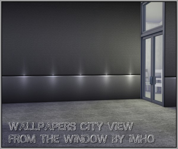 Sims 4 Cc S The Best Windows And Door Decor By Maximss: IMHO Sims 4: Wallpapers City View From The Window • Sims 4