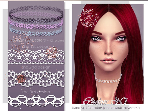 KanoYa Sims: HQ Chokers