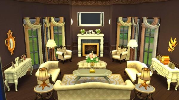 Sanjana Sims  Elegant Living Room. Sanjana Sims  Elegant Living Room   Sims 4 Downloads