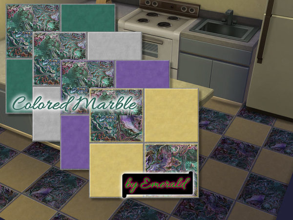 The Sims Resource: Colored Marble by Emerald