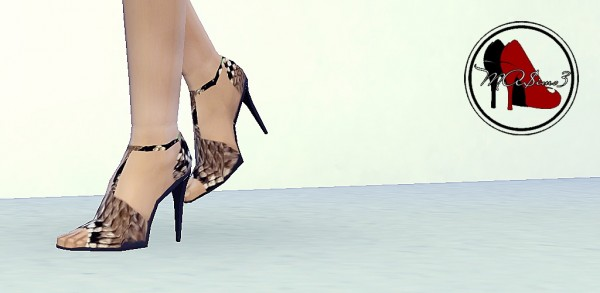 MA$ims 3: Snake Stiletto Ankle Strap Sandals