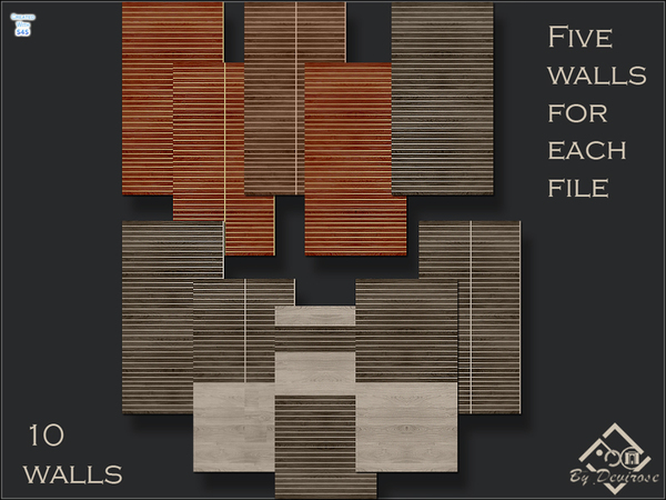 The Sims Resource: Woods Modern Walls Set by Devirose