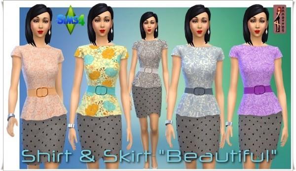 Annett`s Sims 4 Welt: Shirt & Skirt Beautiful