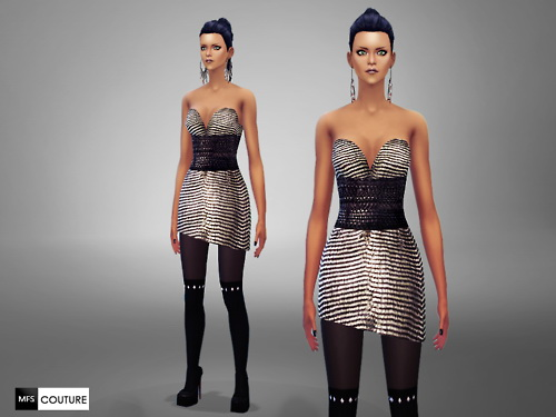 MissFortune Sims: Predator Dress