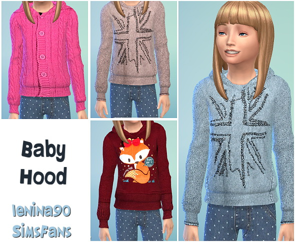 Sims Fans: Baby Hoodie by lenina90