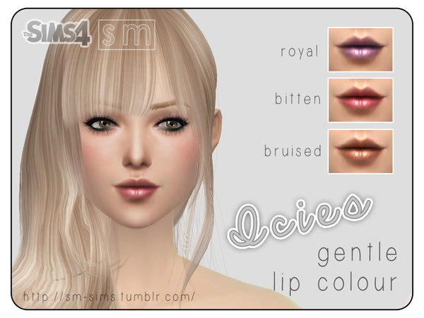 The Sims Resource: Lipstick Colour by Screaming