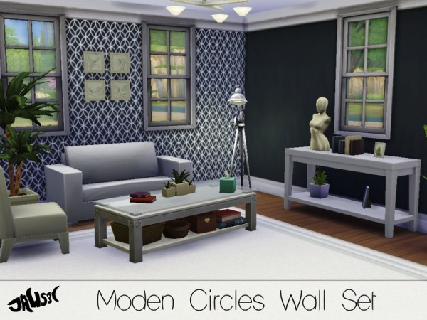 The Sims Resource: Modern Circle Walls Set by Jaws3