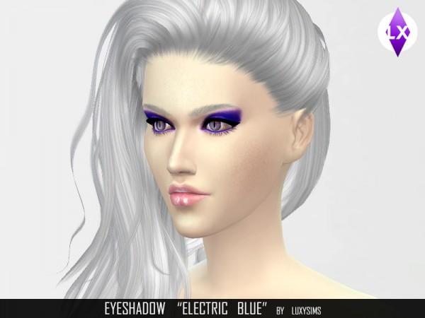 LuxySims: Eyeshadow Electric blue