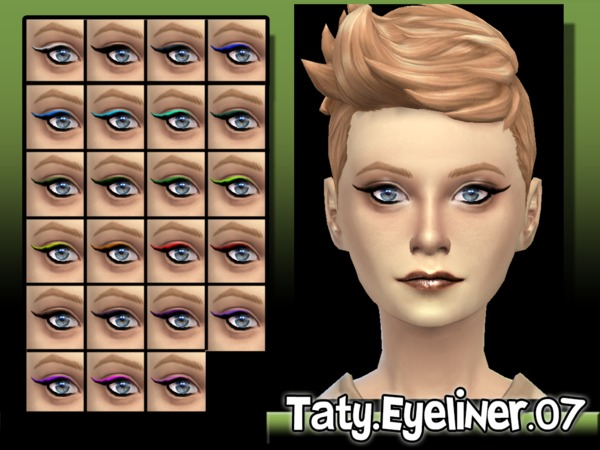 The Sims Resource: Eyeliner 07 by Taty