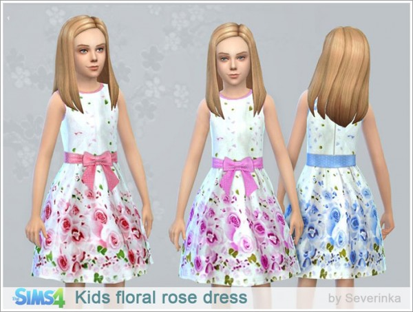 Sims by Severinka: Kids floral rose dress
