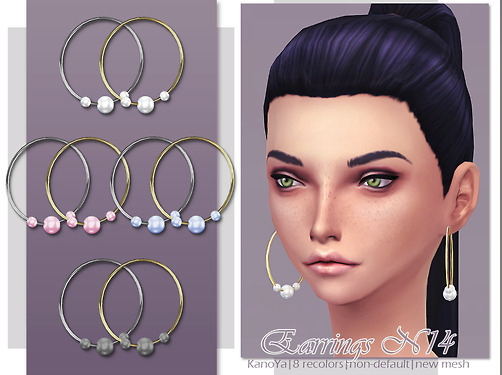 KanoYa Sims: Simple earrings