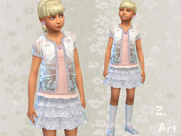 The Sims Resource: Starlight dress by Zuckerschnute20