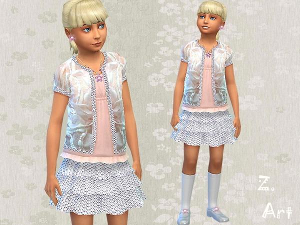The Sims Resource: Starlight dress by Zuckerschnute20