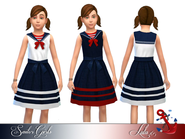 The Sims Resource: Sailor Girls by Lulu265