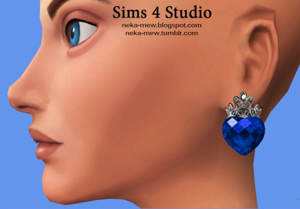 Neka mew: Set of accessories earrings and necklace
