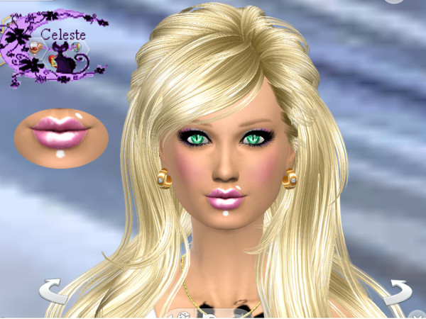The Sims Resource: Gloss rose and tattooed piercing by Celeste25