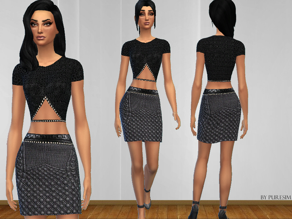 The Sims Resource: Elegant Outfit Set by PureSim