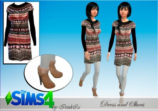 Irinka: Dress and shoes Winter