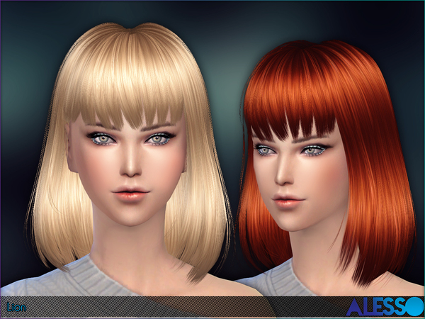 The Sims Resource: Lion hair by Alesso