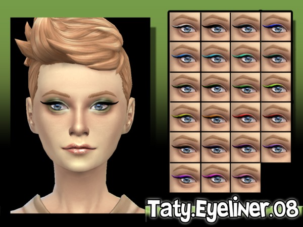 The Sims Resource: Eyeliner 08 by Taty