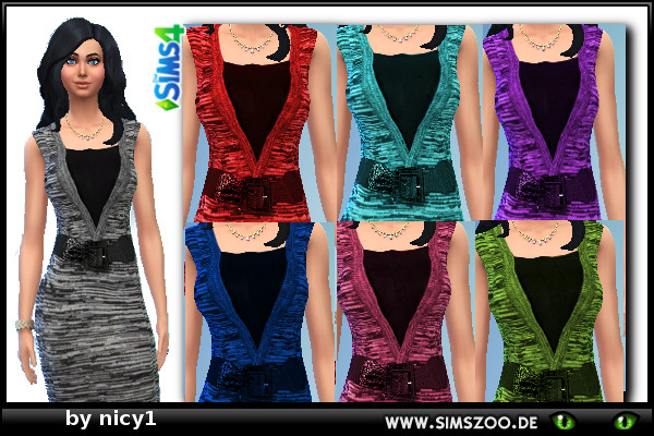 Blackys Sims 4 Zoo: Dress by nicy1
