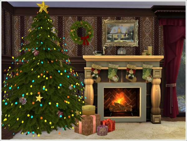 Sims by Severinka: Christmas set