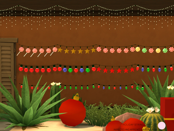The Sims Resource: Holiday String Lamp Set by DOT