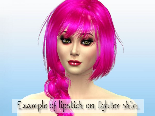 The Sims Resource: Lush Default Lipstick Collection by Fortunecookie1