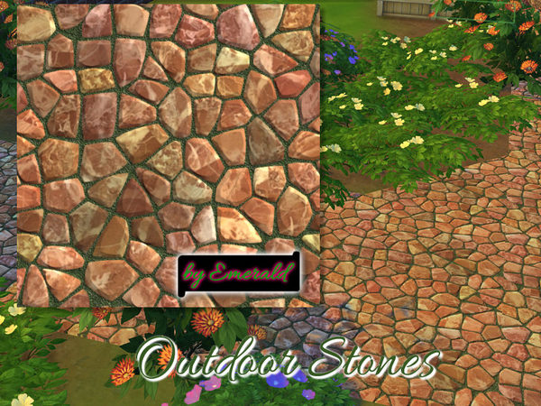The Sims Resource: Outdoor Stones by Emerald