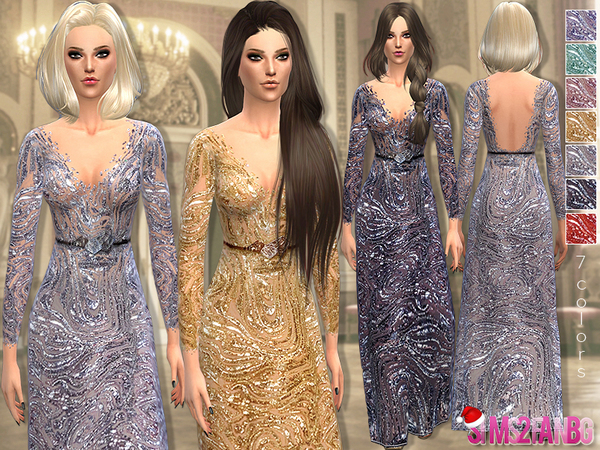 The Sims Resource: 28   Lace sequin gown by Sims2fanbg