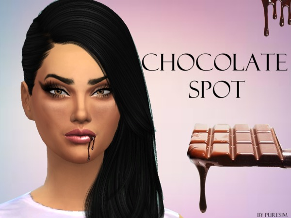 The Sims Resource: Chocolate Spot For Lips by PureSim