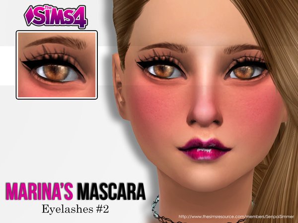 The Sims Resource: Marinas Mascara by Senpai Simmer