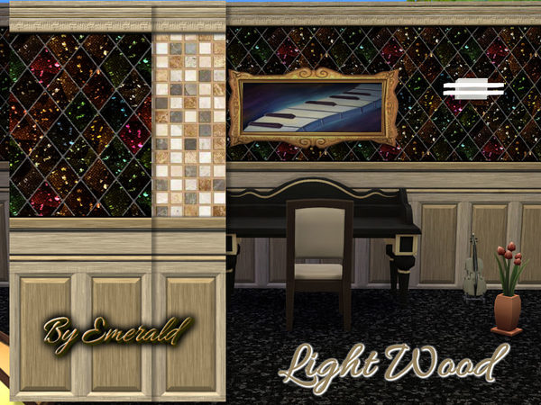 The Sims Resource: Light Wood walls