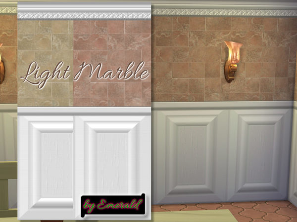 The Sims Resource: Light Marble by Emerald