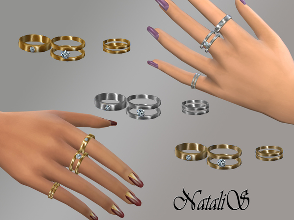 The Sims Resource: Multi rings set by NataliS