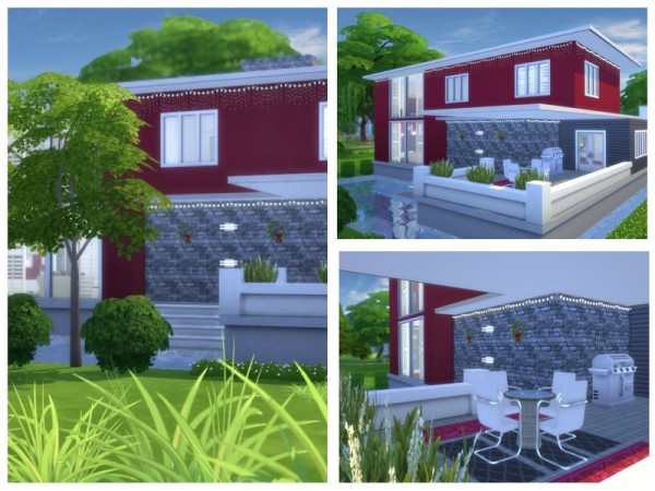 The Sims Resource: Yuletide Modern house by Chemy