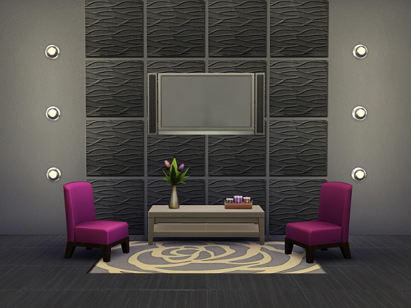 The Sims Resource: Wavy Wall Tiles by Rirann