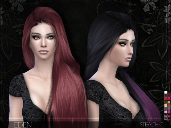 The Sims Resource: Eden hairstyle by Stealthic