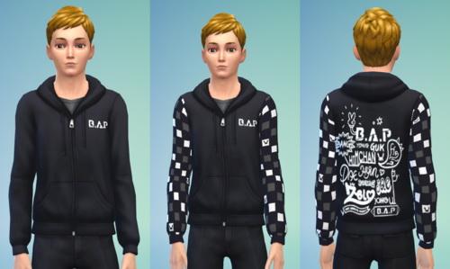 Darkiie Sims 4: B.A.P Hoodies