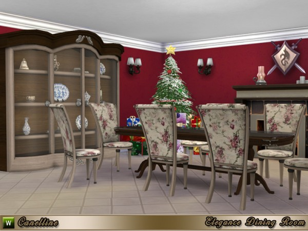 The Sims Resource: Elegance Dining Room by Canelline