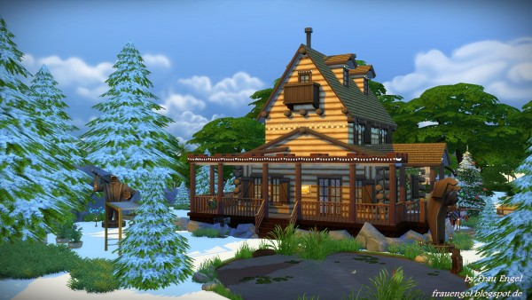 Frau Engel Christmas Log Cabin Sims 4 Downloads