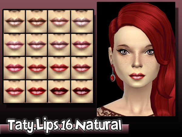 The Sims Resource: Lipstick 16 by Taty